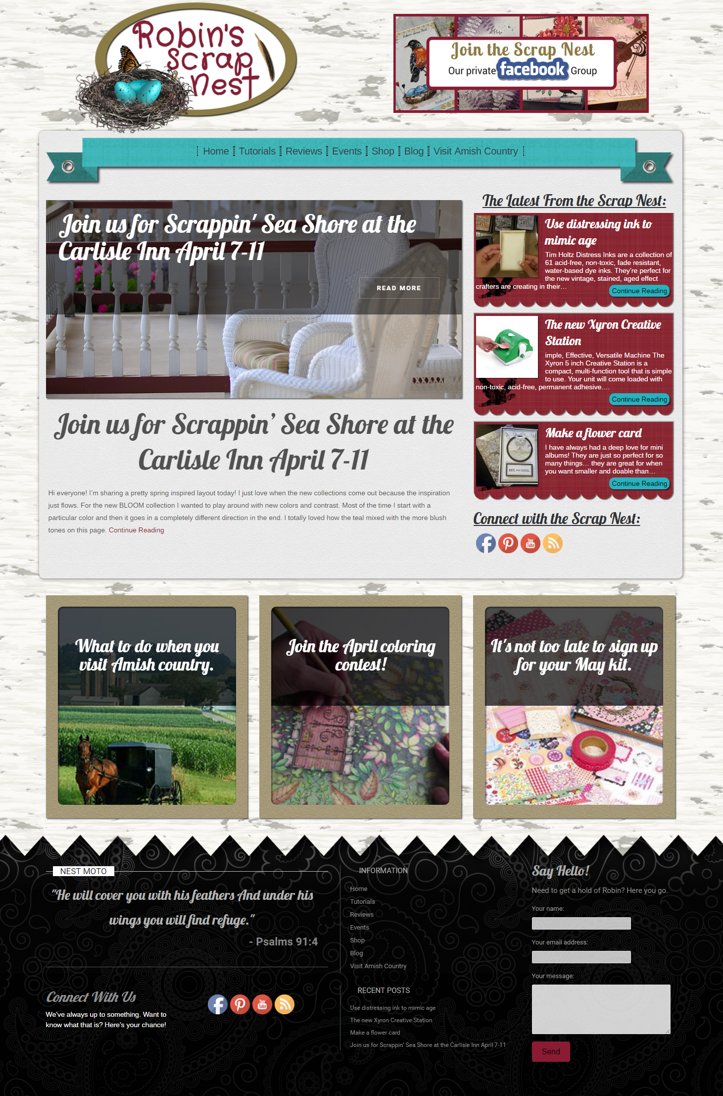 This client runs a scrapbooking company. They wanted a modern attractive site that constantly changes. We created this totally dynamic page that pulls content and pictures from their own blog posts to give them an easy to update page that always looks great.